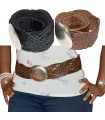 Leather Belt - Artisan Braided - 2 Colors - Alpaca Stamp - Celosia Model