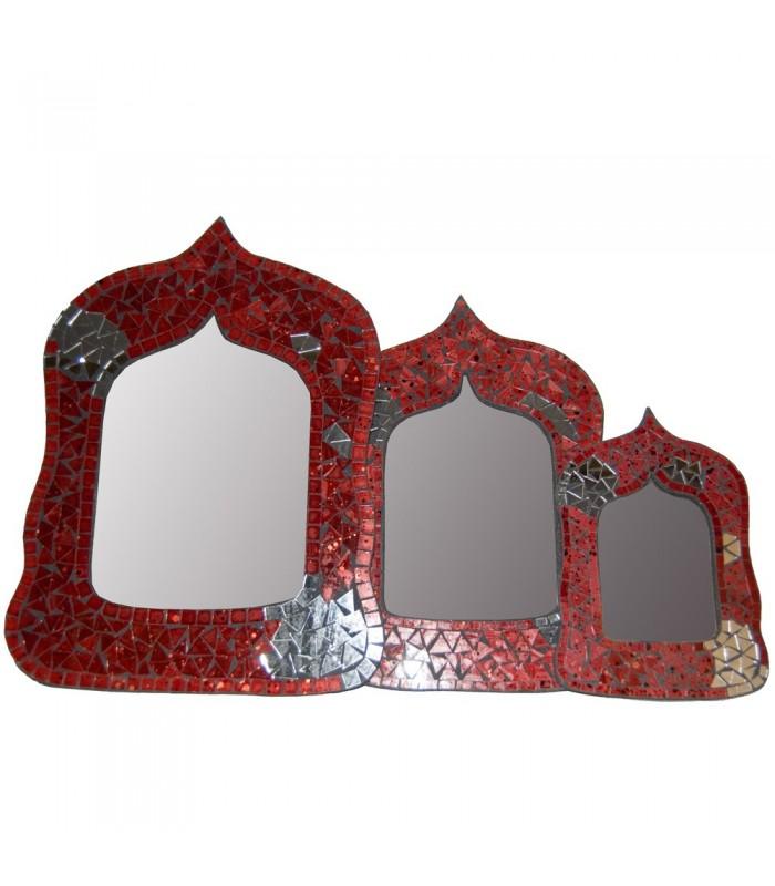 Espejo Arabe Ovalado - Mosaicos Andalusi -2 Colores - 3 Tamaños