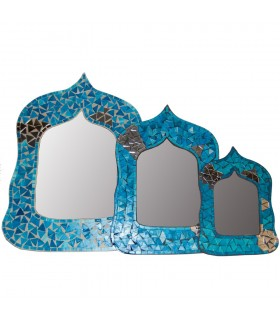 Arab Oval Mirror - Andalusi -2 Mosaics Colors - 3 Sizes