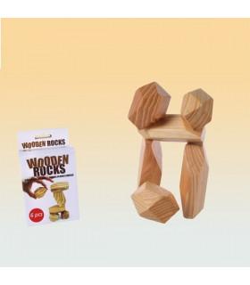 Juego Ingenio-Piedras Madera-Crear Figuras