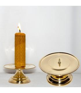 Candleholder bronze - skewer - artisan Spanish - 9 x 5 cm