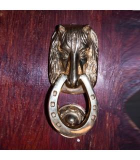 Anrufer Kopf Pferd - Hufeisen - werfen Bronze - Spanisch