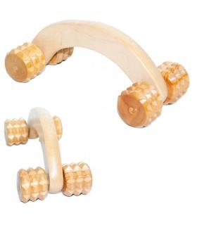 Archi ruote massaggiatore 16 x 7 cm - legno-