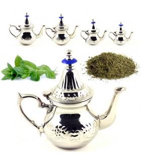 Tè arabo - 4 formati di alta qualità - teiera marocchina - acciaio-