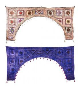 Mat decorazione fiocco - artigiano - 190 x 100 cm-vari colori
