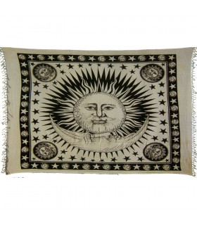 India-Cotton- Good Morning  -Artisan-140 x 220 cm