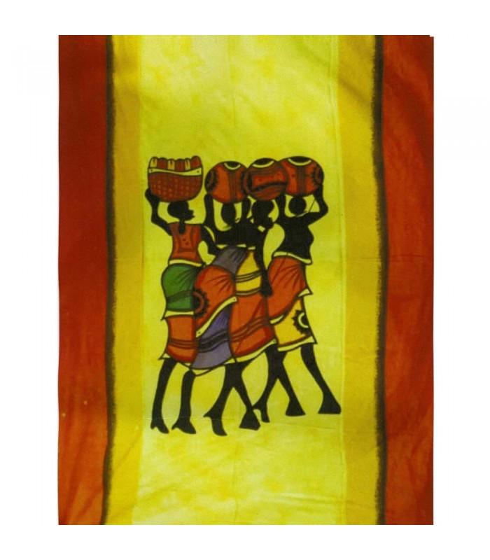 Tela Algodon India-Madre África-Artesana-140 x 210 cm