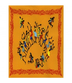 African Fiesta-India - arancione - tessuto cotone 140 x 210 cm