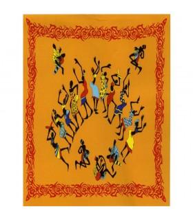 Tela Algodon India-Fiesta Africana- Naranja -140 x 210 cm