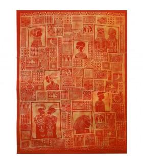 Tela Algodon India-Tapiz Masai-Artesana-140 x 210 cm