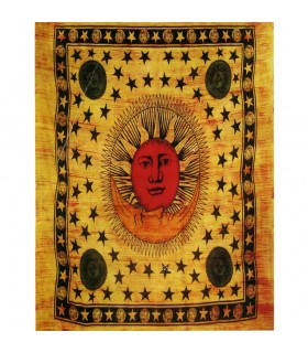 Fabric cotton-India - Sun and moon Color - 210 x 240 cm