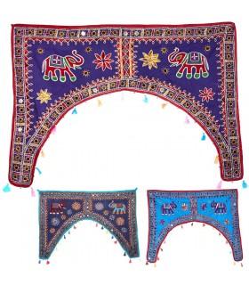 Mat decorazione fiocco - artigiano - 95 x 65 cm-vari colori