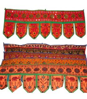 Tapete Decoración Flecos - Artesanal - 95 x 35 cm-Varios Colores