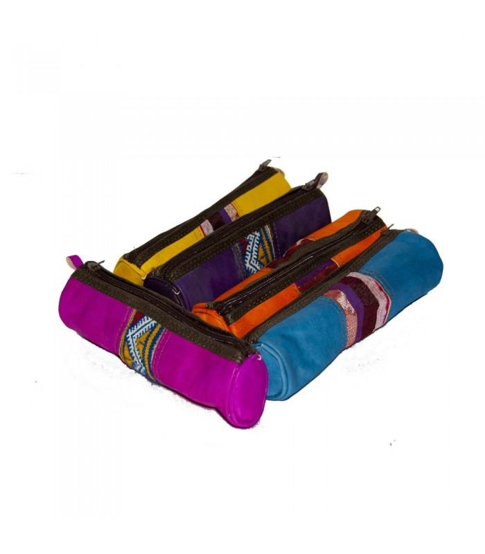 Lapicero Cuero - Tapiz - Varios Colores - Cremallera - 23 cm