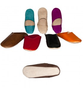 Leather slippers - Walking House - various colors - 38-46