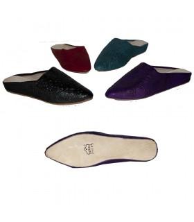 Zapato Mujer - Piel Grabada - Diseño Árabe