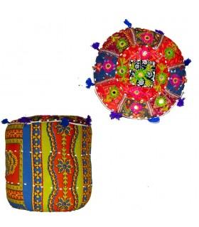 Stool - Hard Puff - Yoga - Includes Stuffing - 40 cm