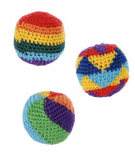 Ball soft - fabric - Multicolor - filled seeds - 5.5 cm