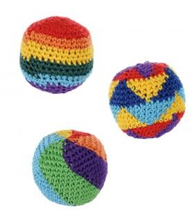 Мяч мягкий - ткань - многоцветный - заполненные семена - 5,5 см