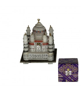 Miniature Taj Mahal Mosque - Made in Marble - 15 cm