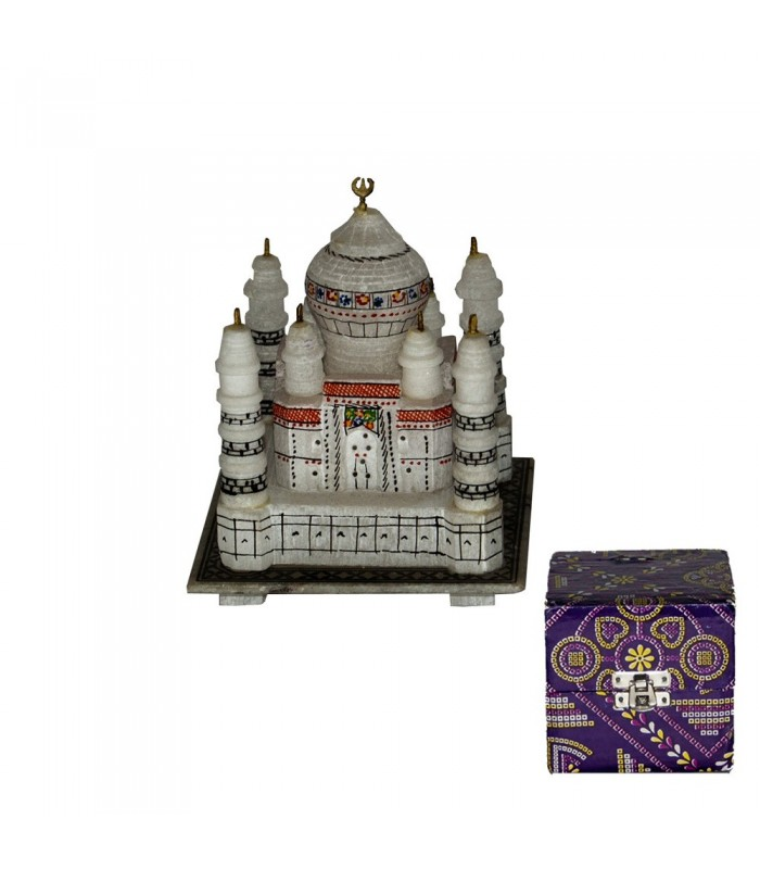 Miniatura Mezquita Taj Mahal - Realizado en Marmol - 15 cm