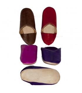 Pantofole - bambini - vari colori N Mini gara di 18-36-suola di pelle