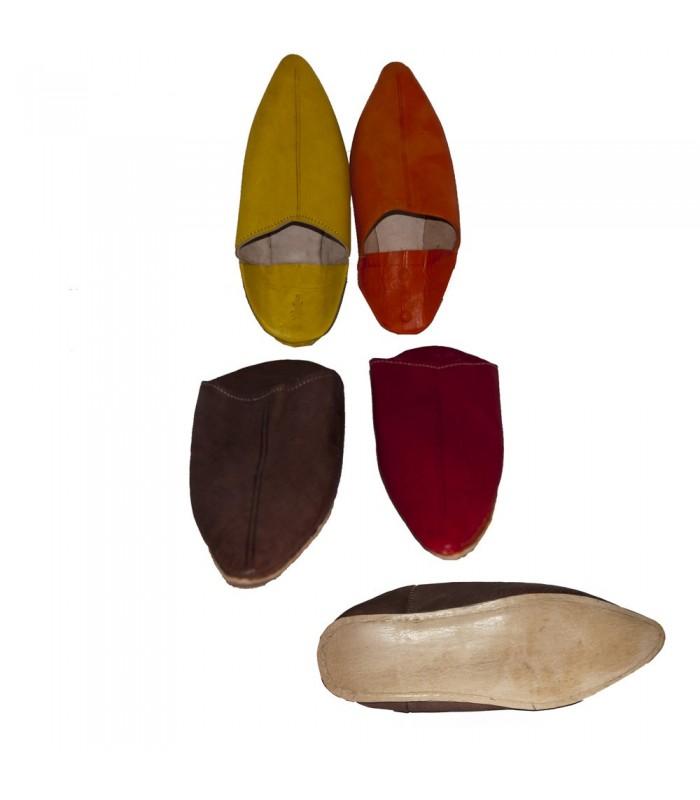 Babucha Piel Punta - Suela Semidura - Varios Colores - 38-46