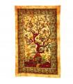Fabric cotton India-tree of the Vida-Artesana - 210 x 240 cm