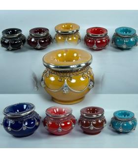 Aschenbecher - Filigree Alpaka - Wasser, verschiedene Größen & Farben