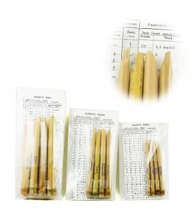 Pack 4 Kalam Escritura Arabe - Bambú - 3 Tamaños -3 Graduaciones