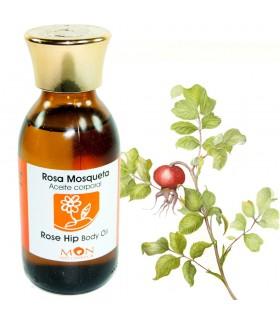 Huile Corporelle avec huile de rose musquée - 125 ml - 100% natu