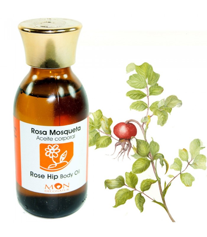 Body Oil with Rosehip Oil - 125 ml - 100% Natural - MON