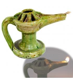 Barro Aladdin - Verniz Verde Idoso - Óleo de Algodão e 10 cm