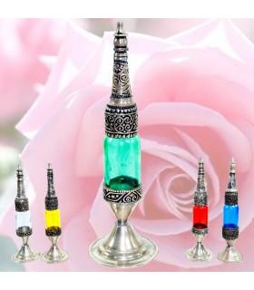 Perfumero Alpaca Grabada - Colores- 2 Piezas - Agua de Rosas