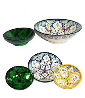 Bol Cerámica - Diseño Arabe -Pintado a Mano - 2 Tamaños-Colores