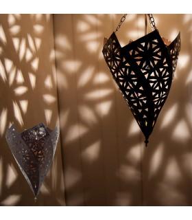 Ferro battuto openwork del soffitto - reticolo di disegno spirale arabo - 37 cm