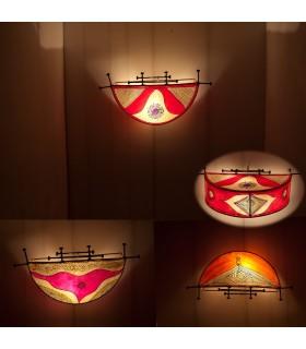 Aplique Piel Henna - Semicírculo - Diseño Etnico -Varios Colores