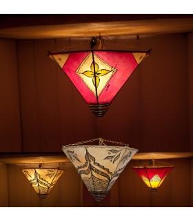 Lámpara Plafón Espiral- Piel Forja -Pintada Henna -40cm-Colores