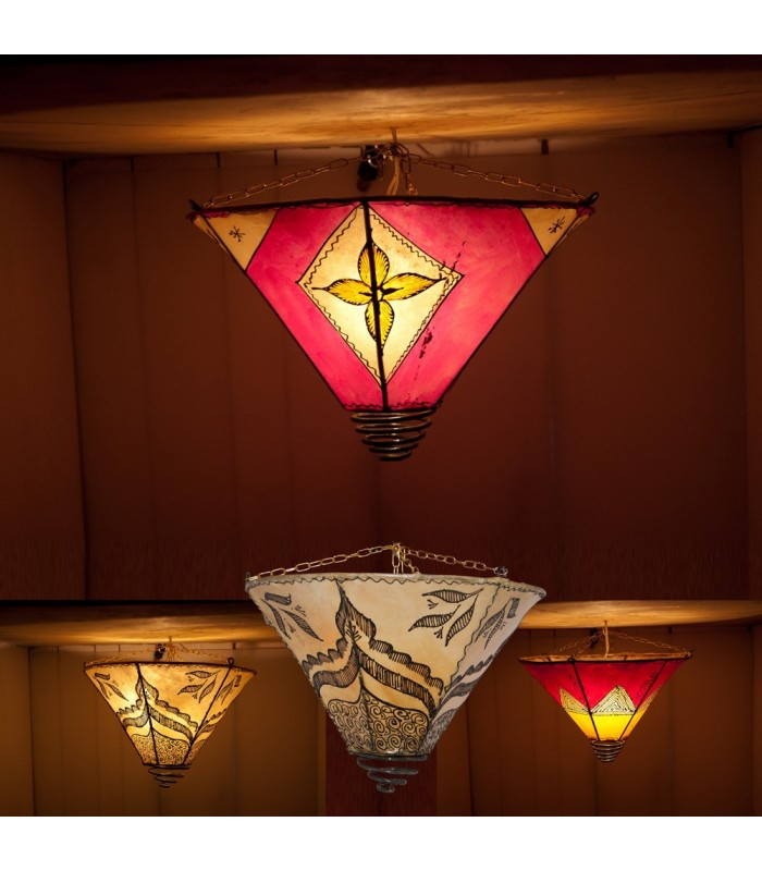 Spiral Ceiling Light-Skin-Painted Forge-Colors Henna-40cm