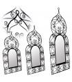 Moldura de espelho Made in Forjar - 3 tamanhos - Design árabe