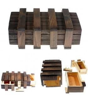 Caja Mágica - 2 Compartimentos Secretos - Madera Envejecida