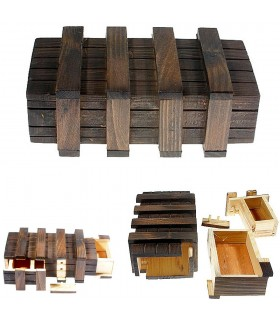 Magic Box - 2 Secret Compartments - Wood