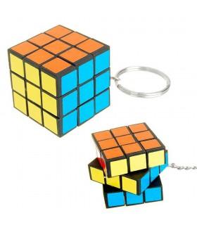 Keychain cube wit - colors - 2.8 cm