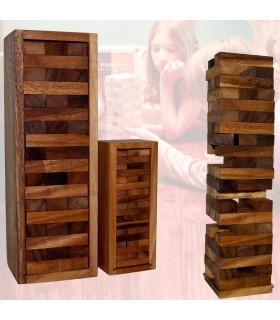 Puzzle legno trasporto in Torre di legno - Jenga - scatola - 2 taglie
