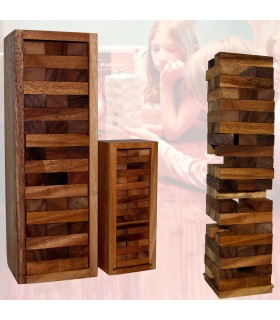 Wooden Puzzle Tower - Jenga - Transportation Wood Box - 2 Sizes