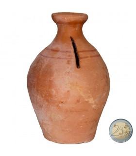 Hucha Mini de Barro - Artesana - 12 cm