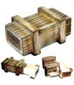Caja Mágica - Compartimento Secreto - Madera Envejecida