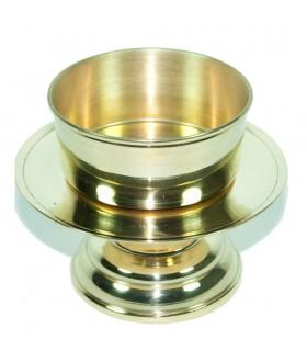 Candela colata bronzo - anello - 9 cm - spagnolo