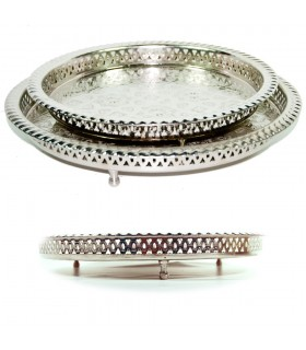 Tea tray Alpaca legs - 4 sizes - engraving artisan Arabic