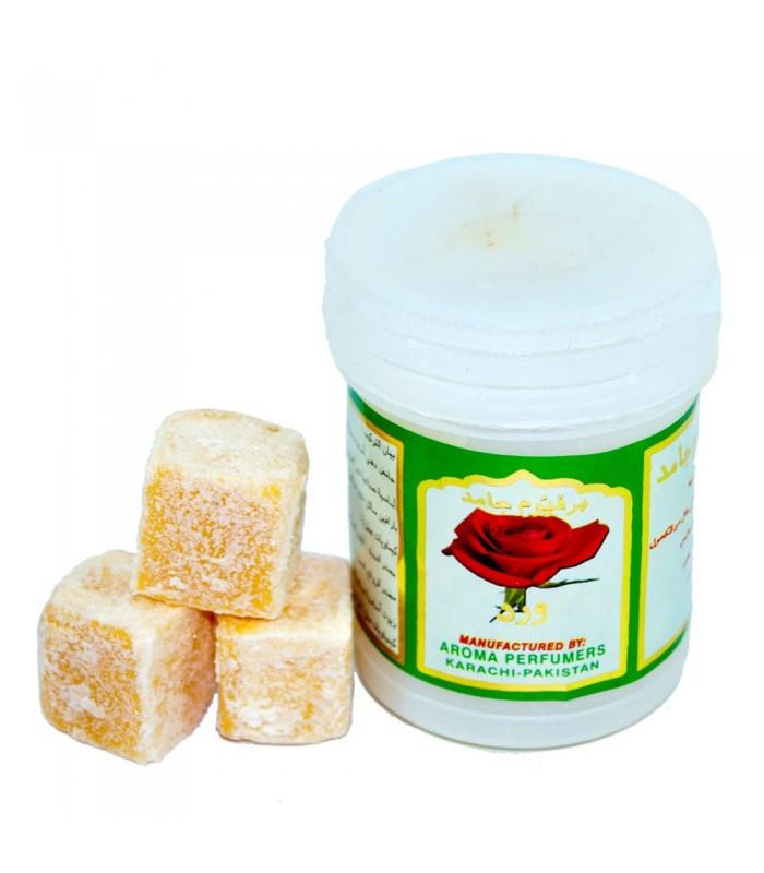 Almizcle en Piedra con Esencia Rosa - Resina - 25 gr